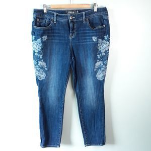 Torrid Skinny Stretch Floral Embroidered Jeans 16S